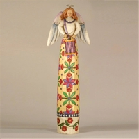 Heartwood Creek White Angel with Drum Figurine by Jim Shore, 117652