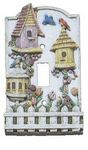 3D Birdhouses Single Light Switchplate Cover - 1707