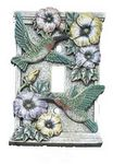 3D Humming Birds And Flowers Single Lightswitch Cover - 1708