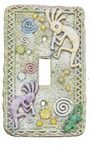 3D Kokopelli Single Light Switchplate Cover - 1721