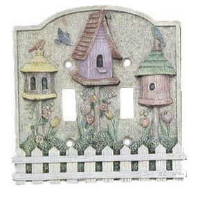 Flossies Gifts 3 D Light Switchplate Covers 3d Birdhouses 3 D