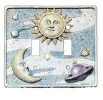 3D SciFi Double Light Switchplate Cover - 1756