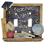 3D Teacher Theme Double Lightswitch Cover - 1767