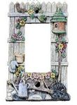 3D Birdhouse/Flowers/Cart GFI/Decor Lightswitch Cover - 1786