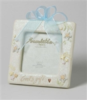Baby Boy Photo Frame with Blue Ribbon - Foundations, 4001702