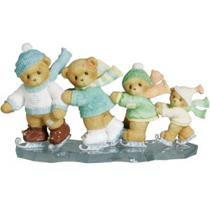 Cherished Teddies Iceskating Bears Figurine, 4002843