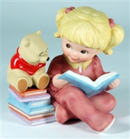 Girl Reading with Winnie the Pooh - Disney and Me Figurine, 4004006