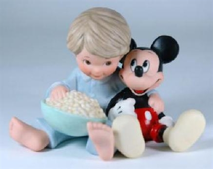 Mickey and Boy with Popcorn - Disney and Me Figurine, 4004007