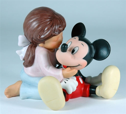 Little Girl with Mickey Mouse - Disney and Me Figurine, 4004008