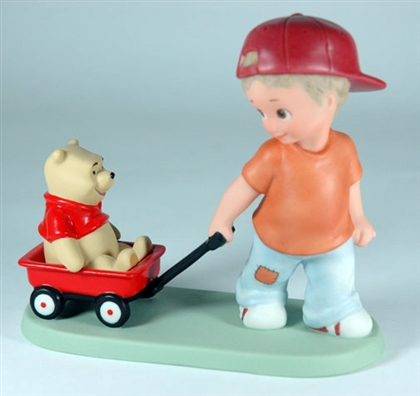 Boy Pulling Pooh in Wagon - Disney & Me Figurine, 4004011
