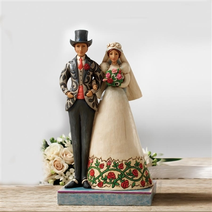Heartwood Creek Bride and Groom Figurine by Jim Shore, 4007234