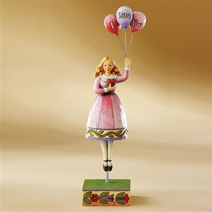 Heartwood Creek Girl with Love Balloons Figurine by Jim Shore, 4007237