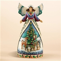Heartwood Creek Woodland Animals Angel Christmas Figurine by Jim Shore, 4007932