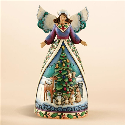 Heartwood Creek Woodland Animals Angel Christmas Figurine