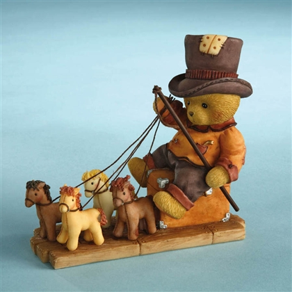 Bear Playing Horse Driver - Cherished Teddies Figurine, 4012277