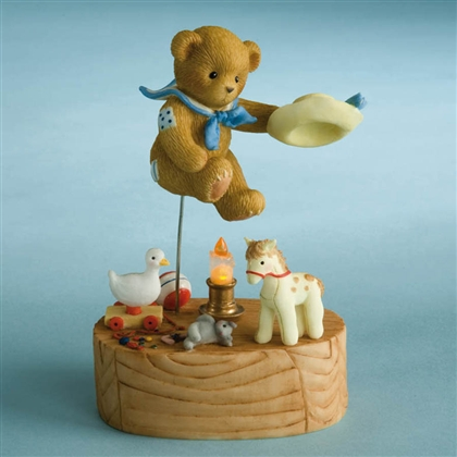 Jack Bear Jumping Over Candlestick - Cherished Teddies Figurine, 4012279