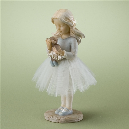 Little Ballerina with Teddy Bear - Foundations Figurine, 4025215