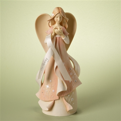 Birthday Angel with Birds Nest - Foundations Figurine, 4025637
