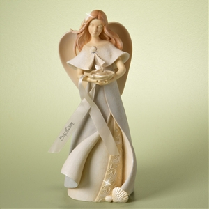 Foundations 'Baptism Angel' with Bird in Shell, 4025641