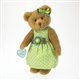 Boyds 10in Plush Bear in Green Polka Dot Dress 'Mother's Day' 4027309
