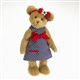 Boyds 14in Plush Bear in Navy Polka Dot Dress 'Whitney' 4028227