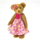 Boyds 14 inch Plush Bear in Pink Dress Lola Retired 4028230