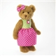 Boyds 10 inch Plush Bear in Green and Pink Dress Brooke 4028231