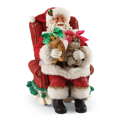 Possible Dreams Santa 'Feline Pretty' Figurine