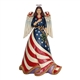 Heartwood Creek Patriotic Angel with Flag Dress Figurine by Jim Shore