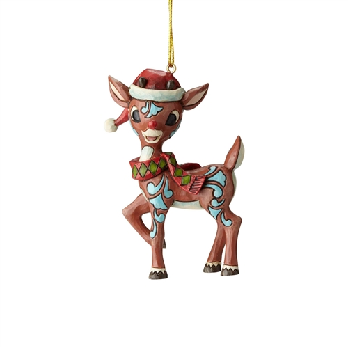 Rudolph Traditions in Santa Hat Ornament, 6001599