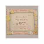 Birth Certificate Photo Picture Frame - 781452