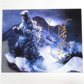 Heisei Godzilla Suit Actor Kenpachiro Satsuma Autographed 'Mountain March' Photo - July 2019, Indianapolis