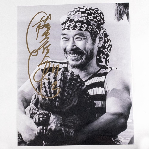 Heisei Godzilla Suit Actor Kenpachiro Satsuma Autographed 'Portrait' Photo - July 2019, Indianapolis