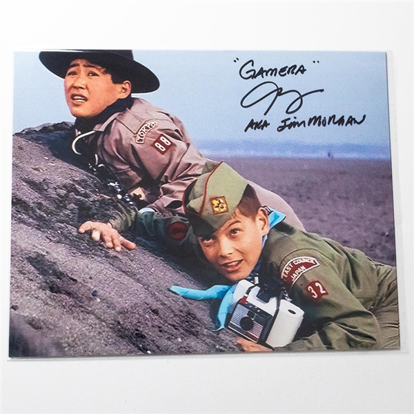 Carl Craig as Jim Morgan on Beach - Autographed 'Gamera vs. Viras' Photograph - October 2018, Mars, PA