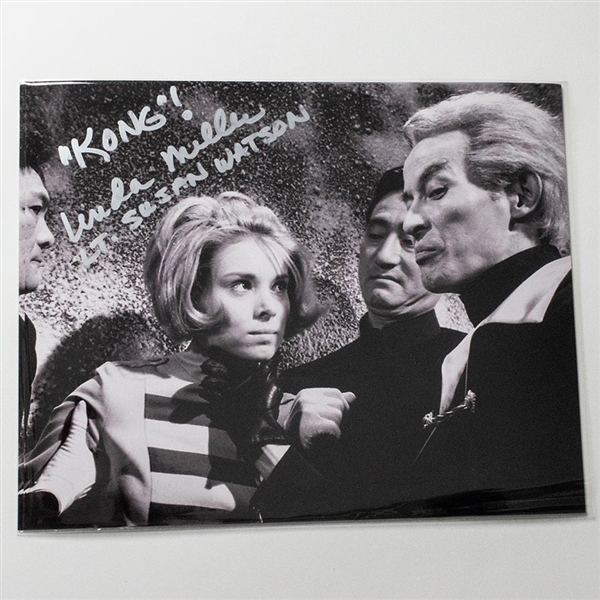 Linda Miller as Lt. Susan Watson with Dr. Who - Autographed 'King Kong Escapes' Photo - October 2018, Mars, PA