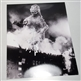 Haruo Nakajima as Godzilla  - Autographed 'Burning Building' Photo
