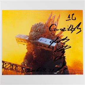 Tom Kitagawa as Godzilla - Autographed 'Godzilla vs. Megaguirus' Photo - July 2016, Louisville, KY