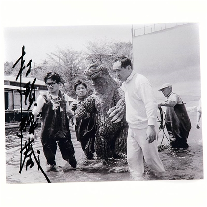 Monster Maker: Keizo Murase  - Autographed 'King Kong vs. Godzilla' Photo - April, 2016, Pasadena, CA