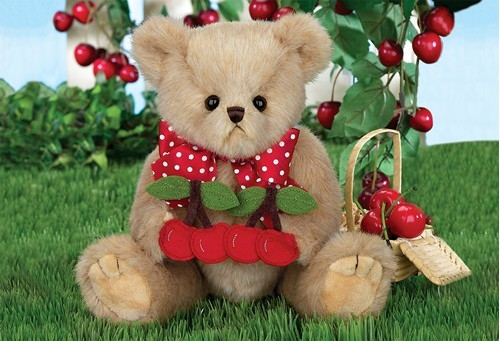Bearington Bears Beary Cherry 10in Plush Bear, 143300