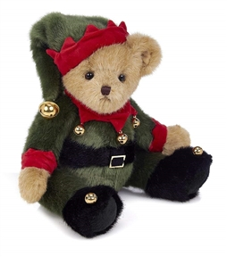 Bearington 'Jingle Toes' 14in Plush Elf Bear, 173239