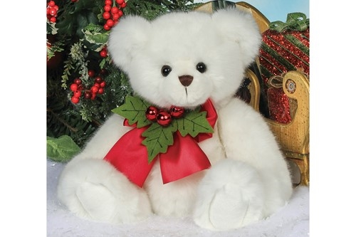 Bearington 'Hollister Hollybeary' 15in Plush Bear with Holly, 173901