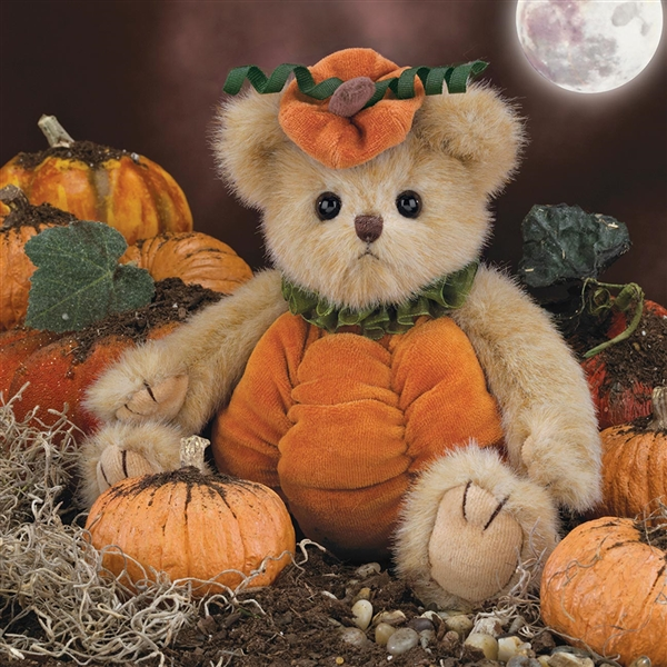 Bearington Izzy A. Pumpkin 10-Inch Plush Bear 179942