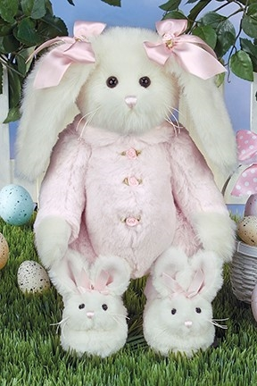 Bearington Bears 'Bonnie Bunnytoes' 14in Plush Bunny Rabbit