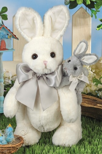 Bearington Bears 'Skip & Hop' 14in Plush Bunny Rabbit