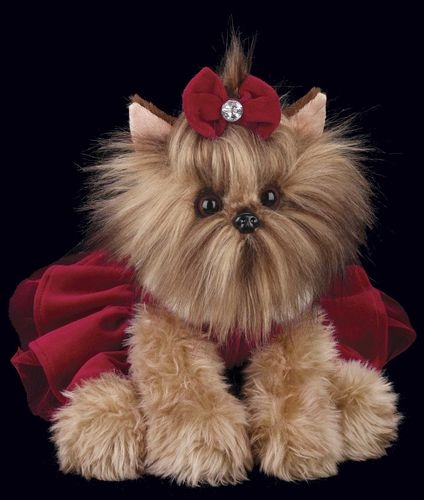 Bearington 'Yuletide Yorkie' 13in Plush Puppy, 540160