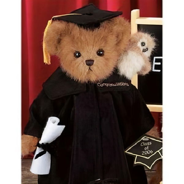 Bearington 'Wise & Guy' 14in Plush Bear with Mini Owl, 1705