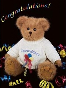 Bearington 'Beary Best Wishes' 10in Plush Bear, 1714