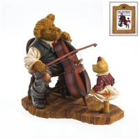 Boyds Grandpa with Cello and Granddaughter Figurine, 4022186