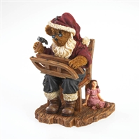 Boyds Santa Bear Fixing Sled Figurine, 4022276