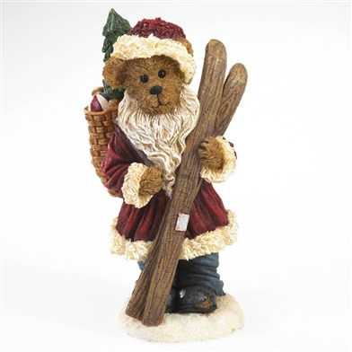 Boyds Santa Bear with Skiis and Basket of Presents Figurine, 4022279